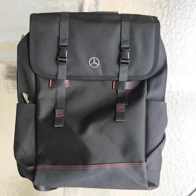 Original, brand-new, unused, limited edition Cycle & Carriage Mercedes-Benz black laptop backpack