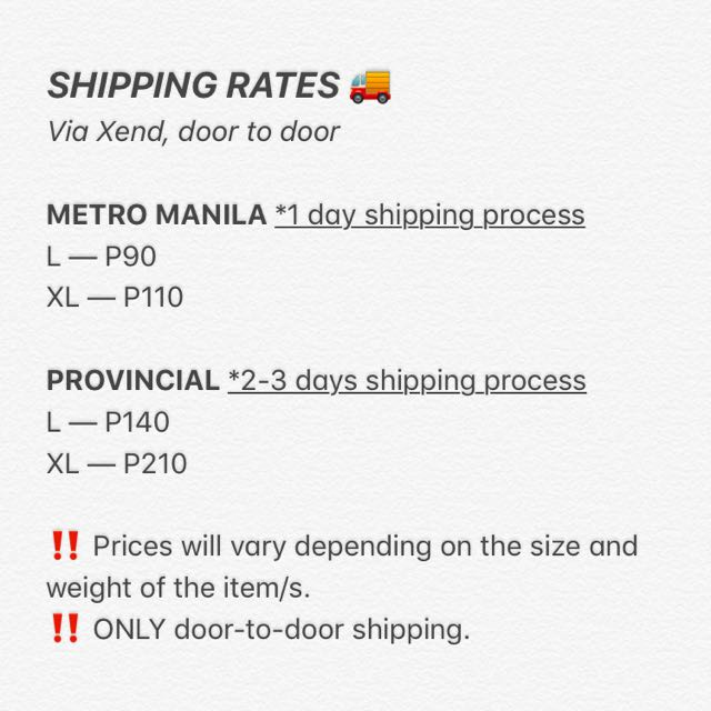 PLEASE READ ‼️ SHIPPING RATES