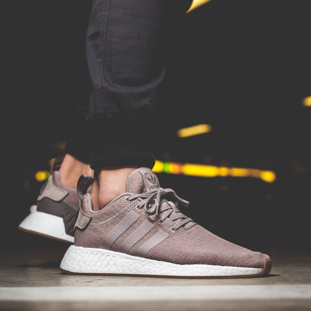 best service e8720 e41bc (PO) Adidas Mens NMD R2 Vapour Grey   French Beige, Men s Fashion,  Footwear, Sneakers on Carousell