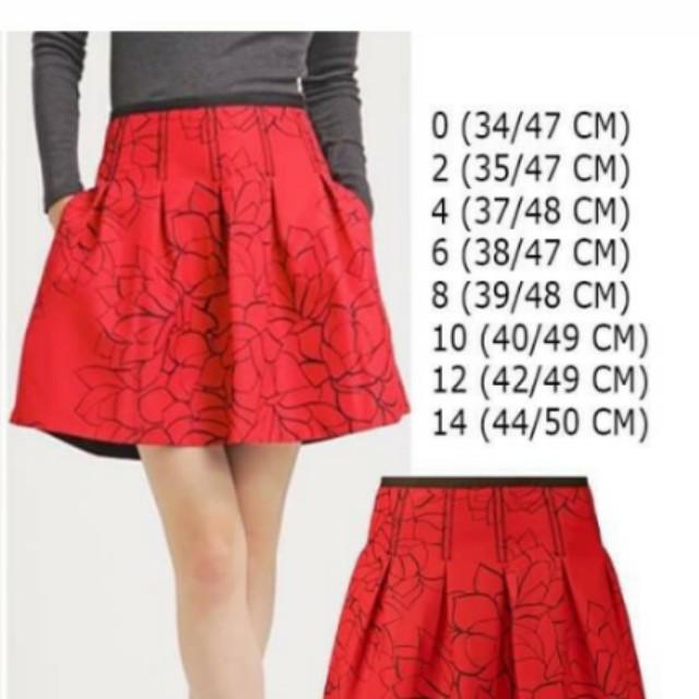 Print pleated Floral Skirt