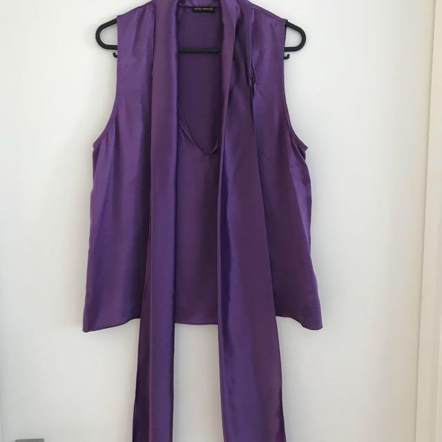 Purple Carla Zampatti top