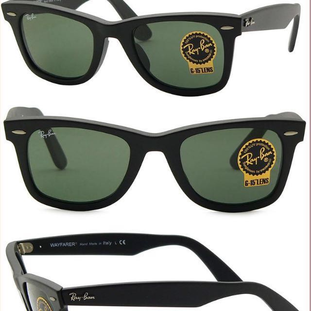 Ray-Ban Wayfarer RB2140 Size 54, Men's Fashion on Carousell