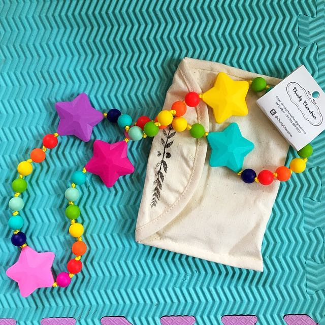 REPRICED Chunky Chewelry Teething Bead Necklace