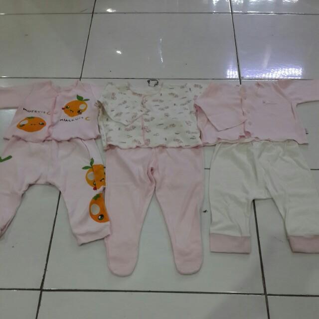 SALE 3pasang baju & celana bayi 0-3bln