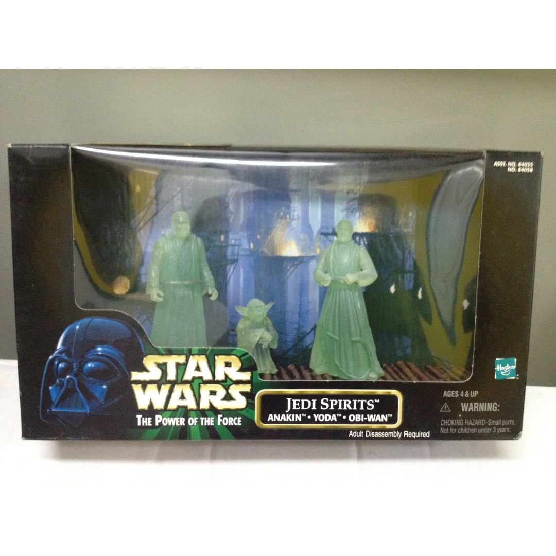 StarWars: VI Return of the Jedi - Jedi Spirits Figures set (Obi-wan Kenobi,  Yoda & Anakin Skywalker)