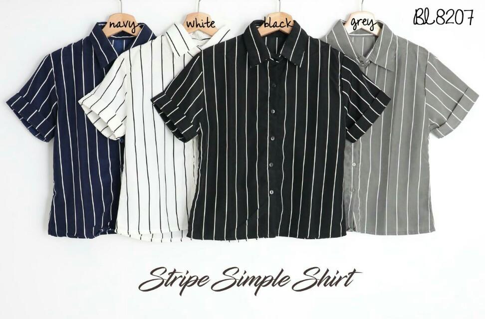 Stripe simple shirt