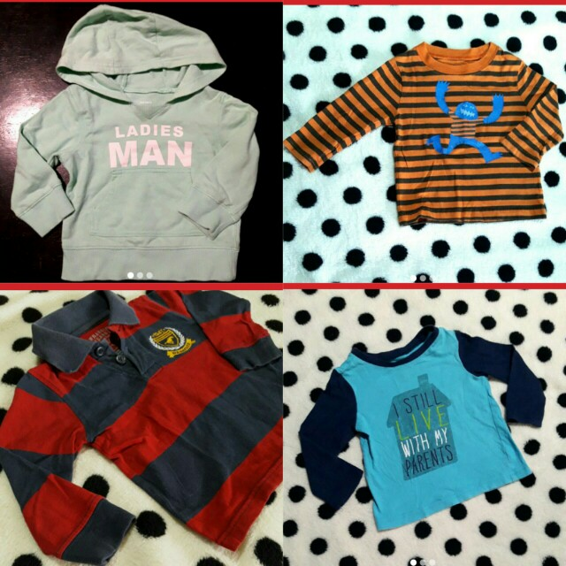 Take all 4 Branded Toddlers sweater for 300 pesos only!