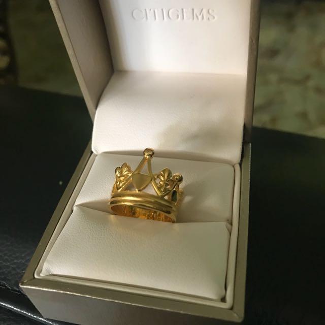 Tiara Ring (999 Gold) Size 10