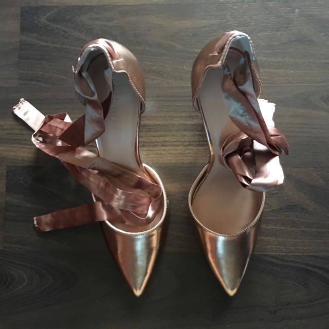 Tie Ankle Court Shoe