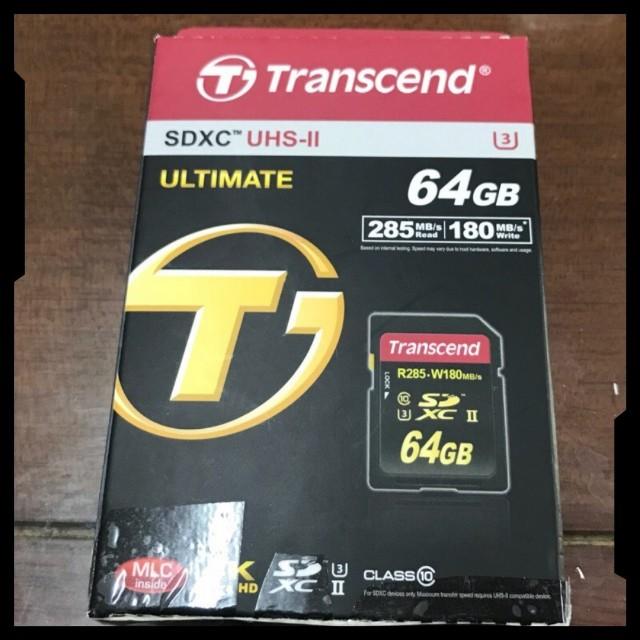 Transcend 創見 SD 64GB SDXC UHS-II U3讀285MB/s寫180MB/s 記憶卡 SD卡