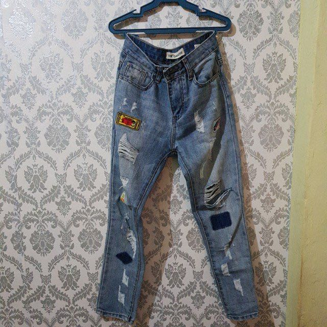 Unbranded Ripped Jeans w/ Patches