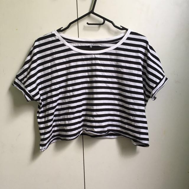 ~USED ONCE~ Agent Ninety Nine Cropped Stripe Top [#47]