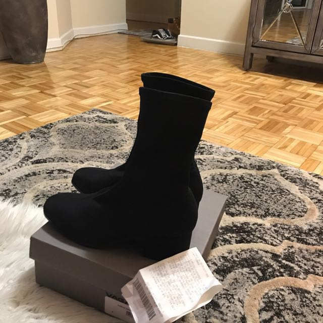 Vagabond Daisy sock booties with square toe size - 8