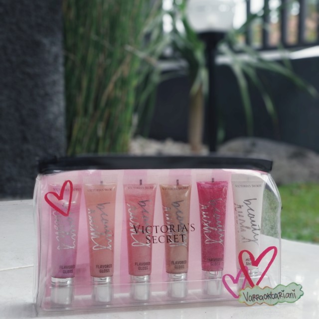 Victoria's Secret Lipgloss Set With Pouch