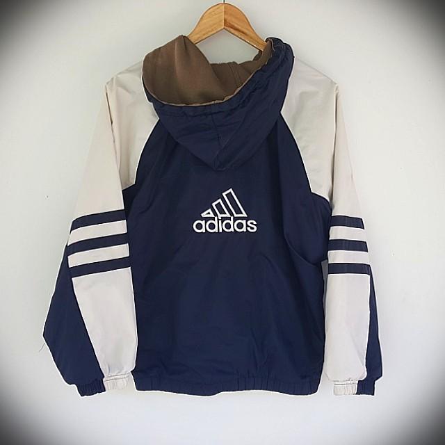 Vintage 90s Adidas Reversible Jacket Small