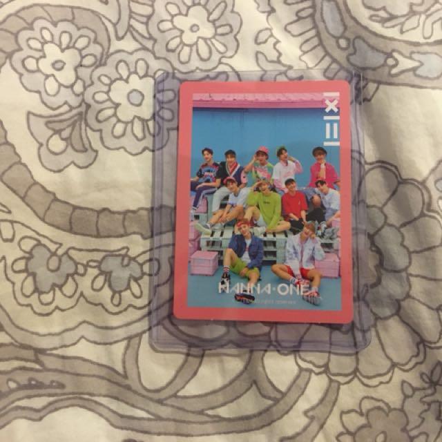 Wanna One Group 1x1=1 photocard
