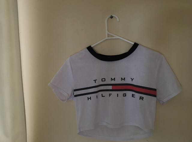 51ff891f09cfc3 White Tommy Hilfiger crop top