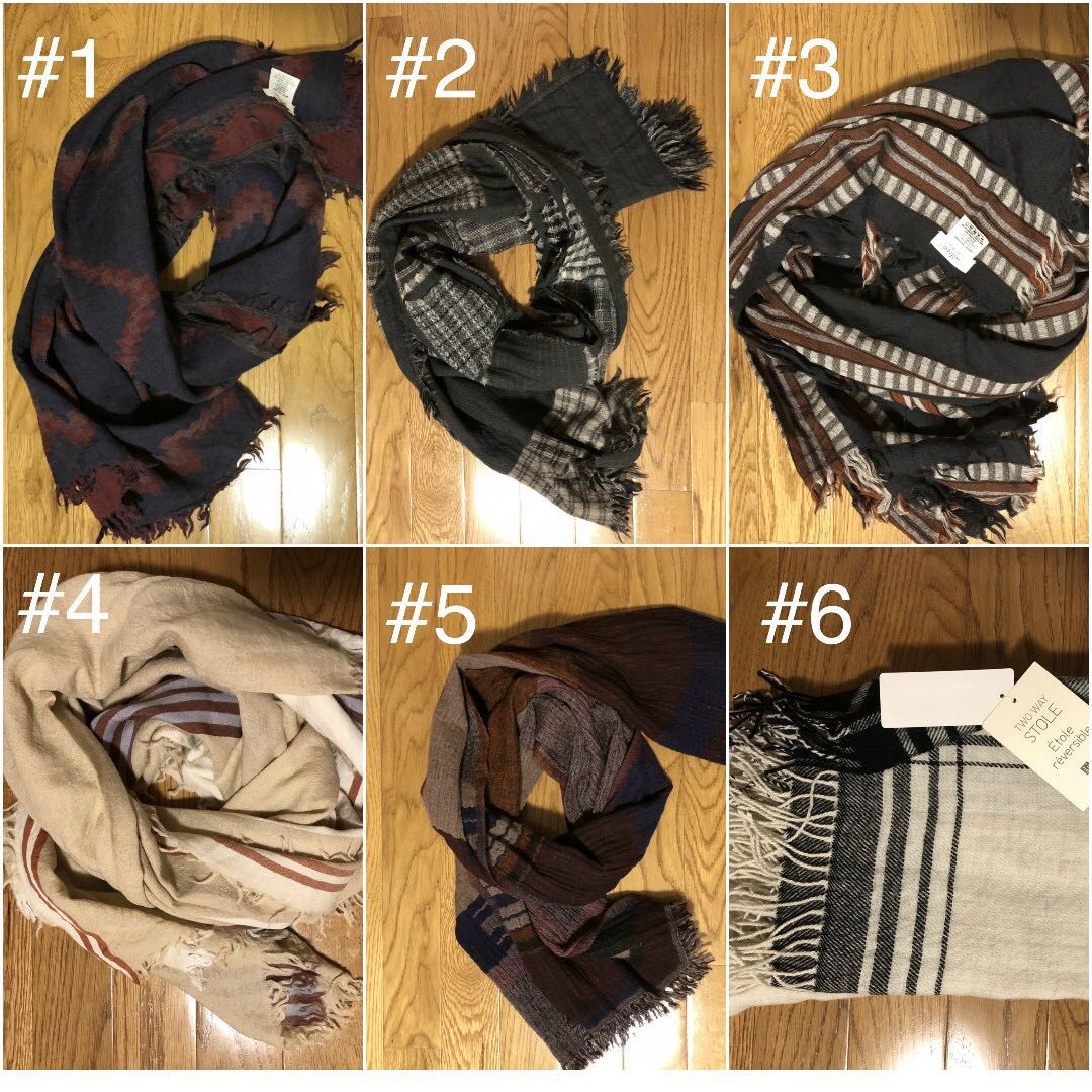 Wilfred Wool Scarves/Uniqlo Stole all mint condition or new