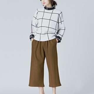 #nude / studiodoe 格紋羊毛毛衣