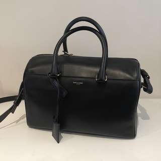 SAINT LAURENT Classic Duffle 6 Shoulder Handbag (Black)