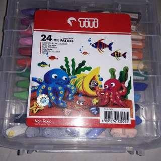 Titi Krayon Minyak 24 Colours
