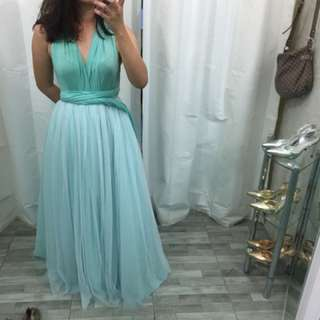 MINT GREEN GOWN FOR RENT