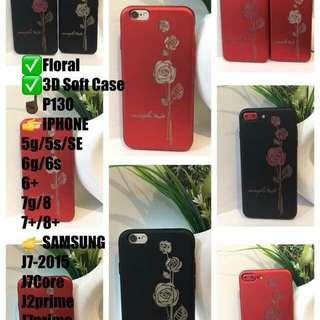 3D FLOWER DESIGN SOFT phone CASES