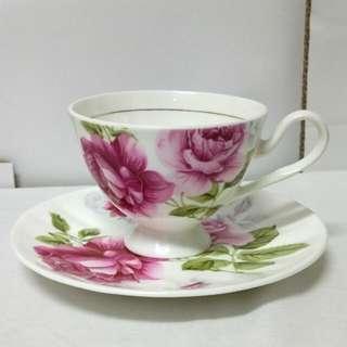 🚚 Garry&William玫瑰骨瓷咖啡杯、英式下午茶茶杯
