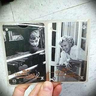 瑪莉蓮夢露 柯德利夏萍 mtr Marilyn Monroe Audrey Hepburn 電影一世紀紀念車票
