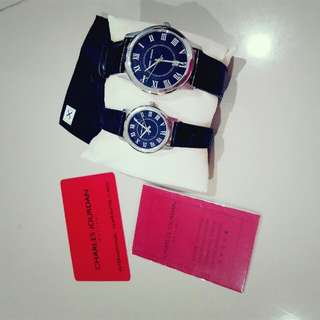 Jam tangan couple merk charles jourdan ori
