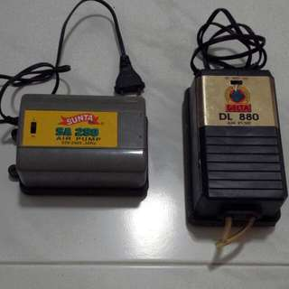 Air pump / fish pump / air stones / air pump splitter / GOOD WORKING CONDITION