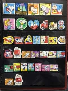 日本Snoopy信銷郵票C8(已使用)