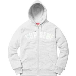 Supreme Arc Logo Thermal Zip Up not hoodie box