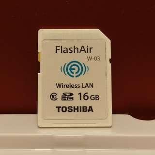 Toshiba Wifi SD card (16GB)