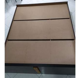 Queen bed frame, free Single bed frame, free electric fan