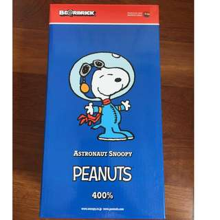 AUTHENTIC Bearbrick Be@rbrick 2015 The Peanuts Comic 400% Snoopy Astronauts