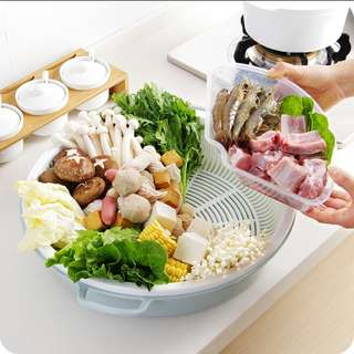 Hotpot special vegetable drain plate