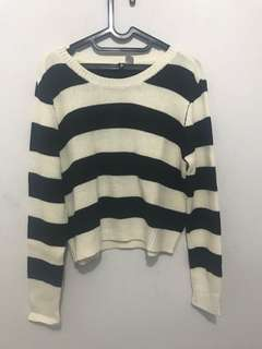 H&M oversized striped sweater