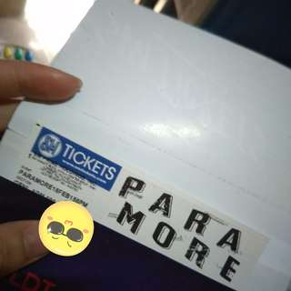 Paramore TourfourMNL GA ticket