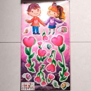 🌸D★台灣3D立體牆貼紙房櫃門裝飾Taiwan 3D wall/door sticker decoration