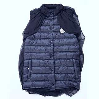 Moncler black Vest with Satin Back