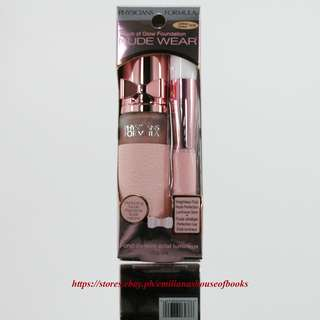 1PC.PHYSICIANS FORMULA NUDE WEAR TOUCH OF GLOW FOUNDATION MAKEUP COSMETICS 30ML. #LIGHT/MED. 6438C