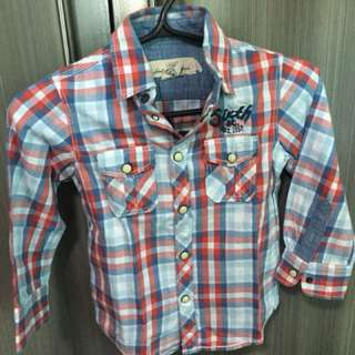 For Sale: Preloved checkered shirt with embroidery