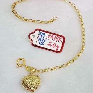 Bracelet 2.0g pawnable saudi gold 18k