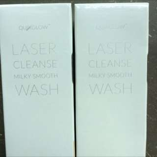 BNIB QUIKGLOW LASER CLEANSE MILKY SMOOTH WASH - 120ml