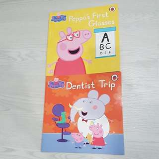 Peppa Pig Story Books: Dentist Trip & Peppa's First Glasses