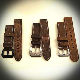 24mm and 22mm Asso, distressed leather straps for Panerai