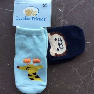 BN ANIMAL PRINT SOCKS M SIZE - 2 pack