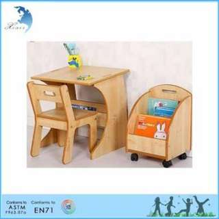 BARU !!! Rak buku anak wooden book rack
