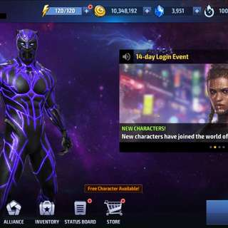 Marvel future fight account